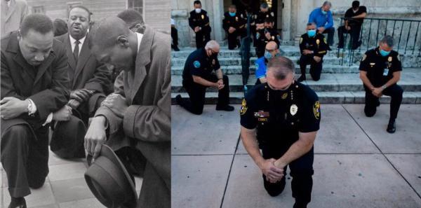 """""""Это уже какой-то чёрный нацизм"""". Американцы извиняются за расизм, преклонив колено, и россиянам их не понять"""