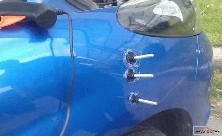 как делается ремонт вмятин без покраски