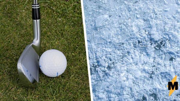 Люди услышали, как мяч для гольфа стучит об лёд, и сломались. Ведь вышел не стук, а пение птиц, спасибо физике
