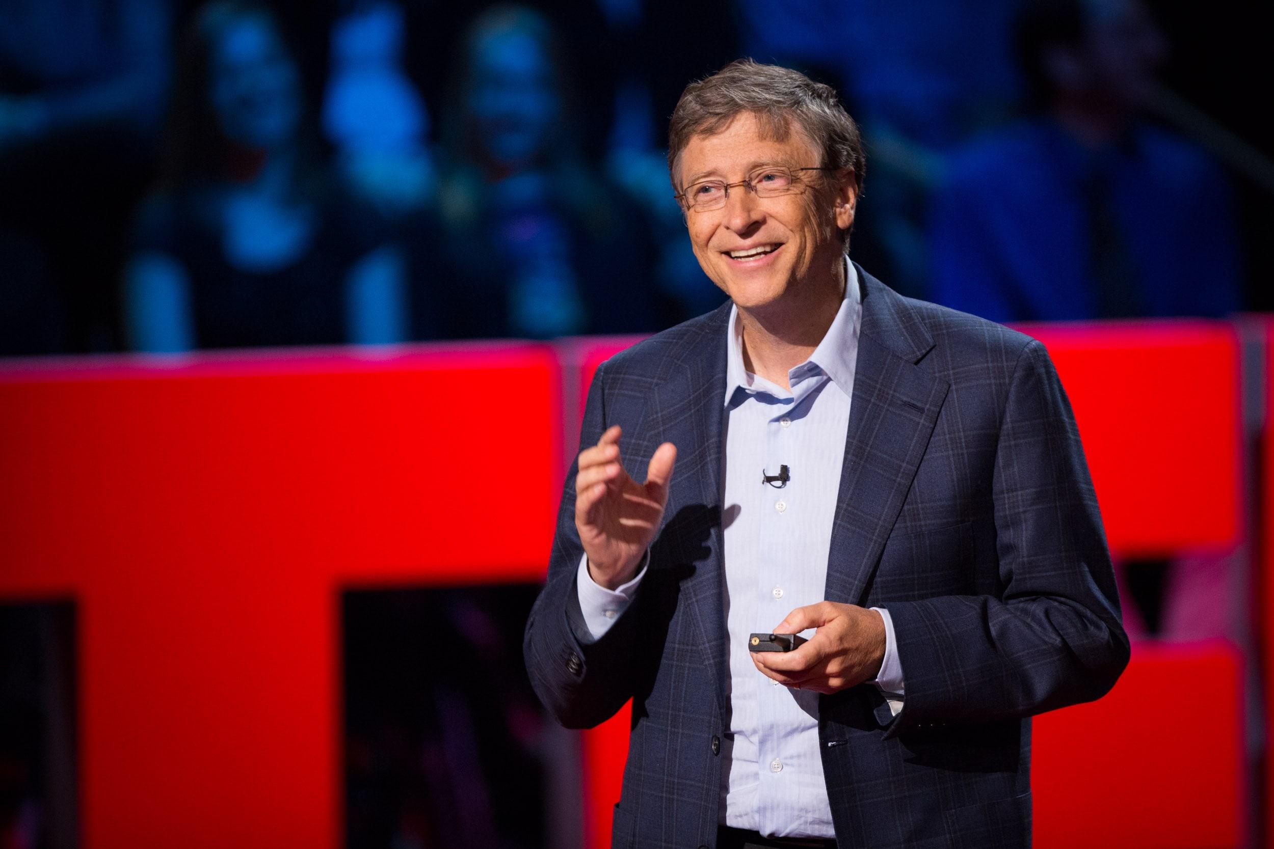 Выступление Билл Гейтса на площадке ted