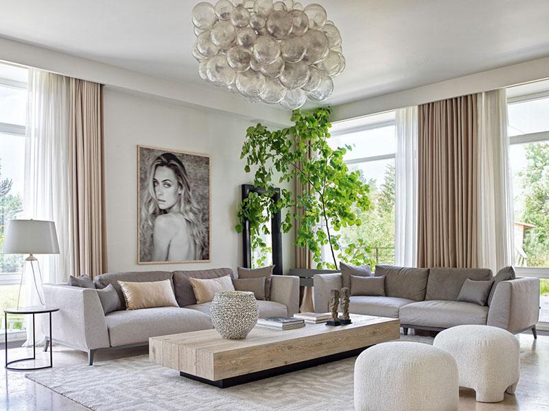 Экологичная элегантность: дом семьи дизайнера Элен Кучеровой в Подмосковье